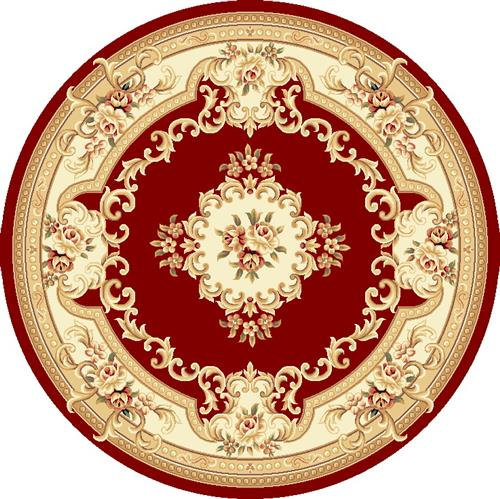 Corinthian-5308-Red/Ivory Aubusson