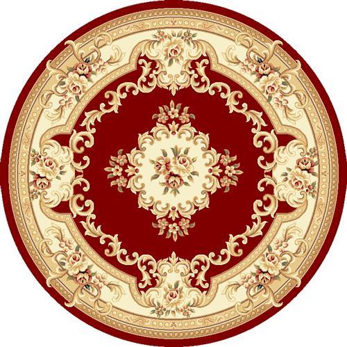 Corinthian-5308-Red/Ivory Aubusson