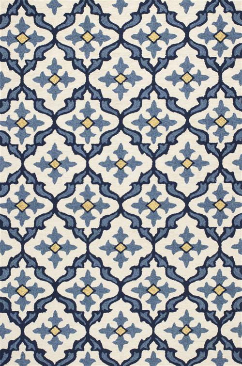 Harbor-4210-Ivory/Blue Mosaic