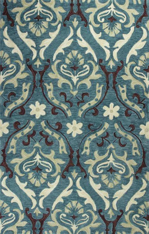 Anise-2411-Teal Damask