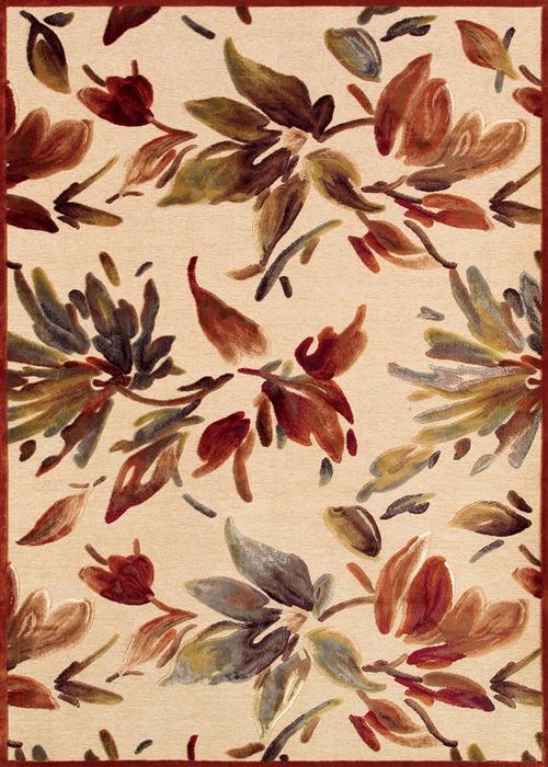 Couristan Cire Watercolor Antique Creamruby Area Rugs Pompano