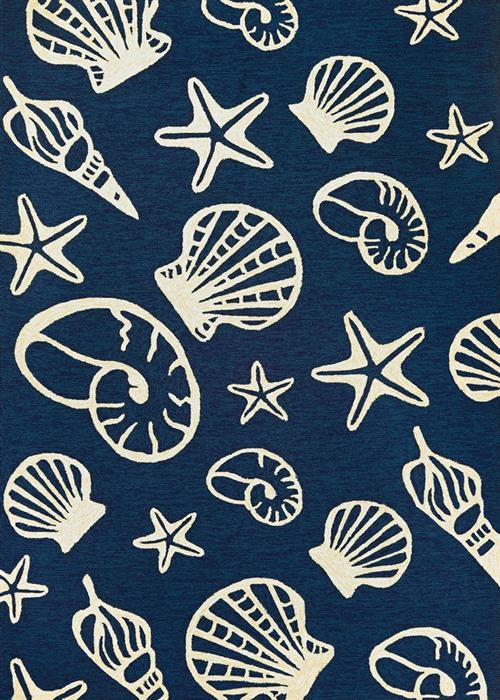 Outdoor Escape - Cardita Shells - Navy/Ivory