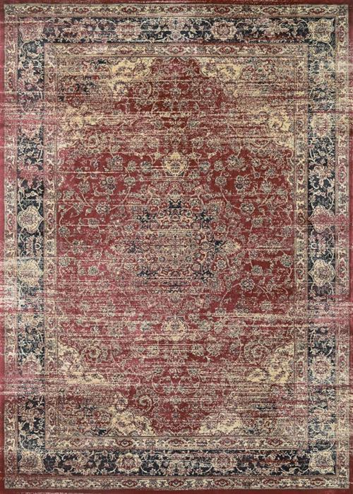 Zahara - Persian Vase - Red/Black/Oatmeal