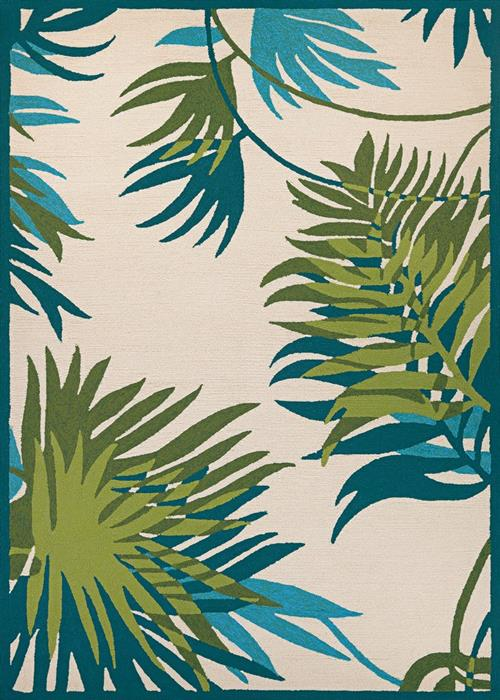 Covington - Jungle Leaves - Ivory/Forest Green
