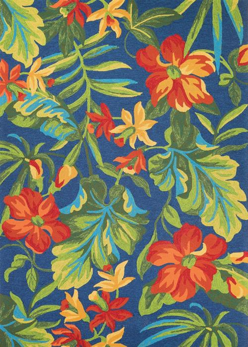 Covington - Tropical Orchid - Azure/Forest Green/Red