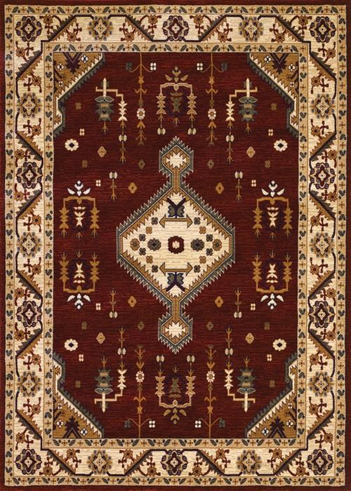 Anatolia - Tribal Diamond - Red/Cream