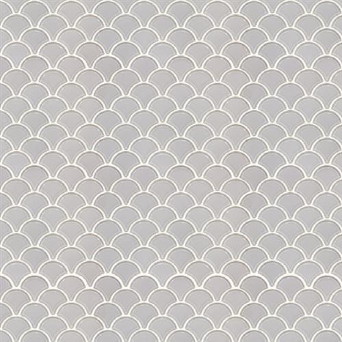 Studio - Nouveau Bianco Glossy - Scallop Mosaic