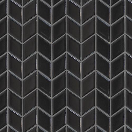 Studio - Nouveau Charcoal Glossy - Chevron