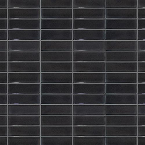 Studio - Nouveau Charcoal Glossy - Stacked Mosaic