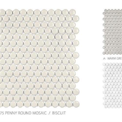Seville Series - Contempo Avant Garde White - Penny Round