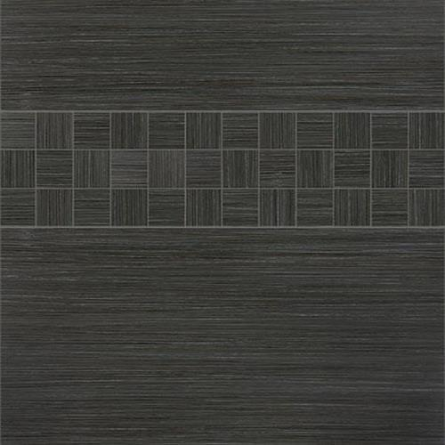 Venetian Architectural  Grasscloth II in Charcoal  4x24 - Tile by Surface Art