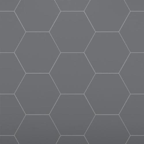 Venetian Architectural  A La Mode Geo Cuts Honed in Black  Hexagon - Tile by Surface Art