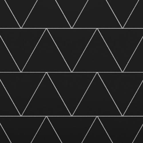 Venetian Architectural  A La Mode Geo Cuts Honed in Black  Triangle - Tile by Surface Art