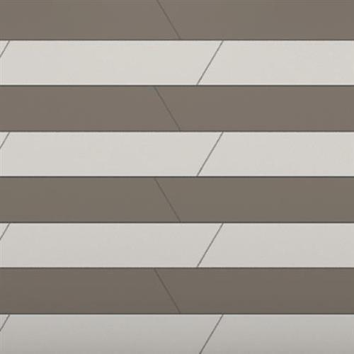 Venetian Architectural  A La Mode Geo Cuts Honed in Brown  Chevron B - Tile by Surface Art
