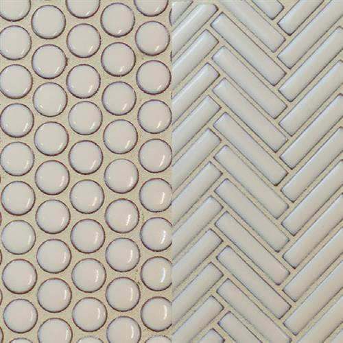 Studio  Ballina in Antique Ivory  Penny Round - Tile by Surface Art