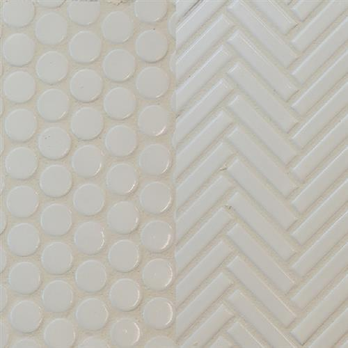 Studio  Ballina in White  Penny Round - Tile by Surface Art
