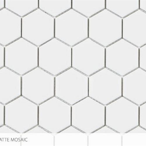 Seville - Contempo Heritage 2 X 2 Hex All White