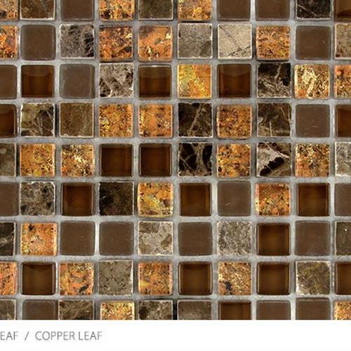 Stone Glass  Metal Leaf Copper Leaf
