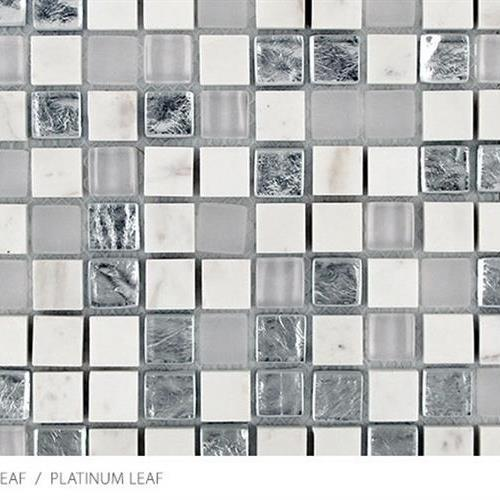 Stone Glass  Metal Leaf Platinum Leaf