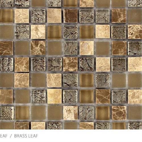 Stone Glass  Metal Leaf Brass Leaf - Mosaic