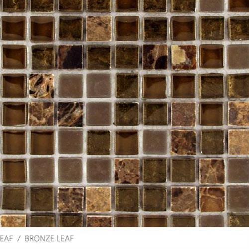 Stone Glass  Metal Leaf Bronze Leaf - Mini Mosaic