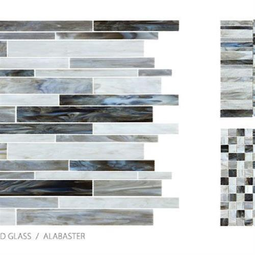 Antique Stained Glass Mix Alabaster Blend - Mosaic