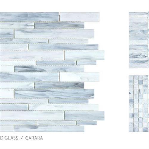 Antique Stained Glass Mix Carrara Blend - Random Stacked