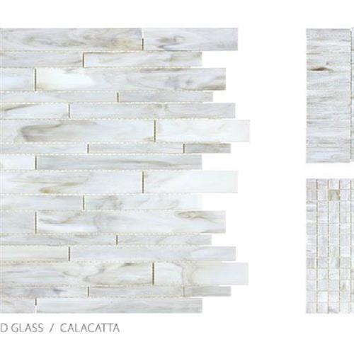 Antique Stained Glass Mix Calacatta Blend - Mosaic
