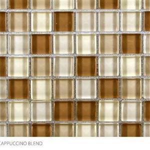 GlassTile ClearGlassBlends CLE-CappuccinoBlend CappuccinoBlend