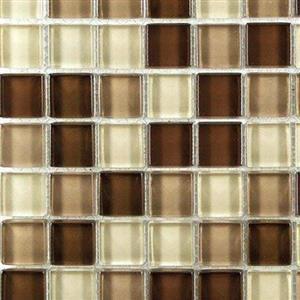 GlassTile ClearGlassBlends CLE-H710 MochaBlend