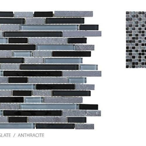 Clear Glass And Slate Anthracite