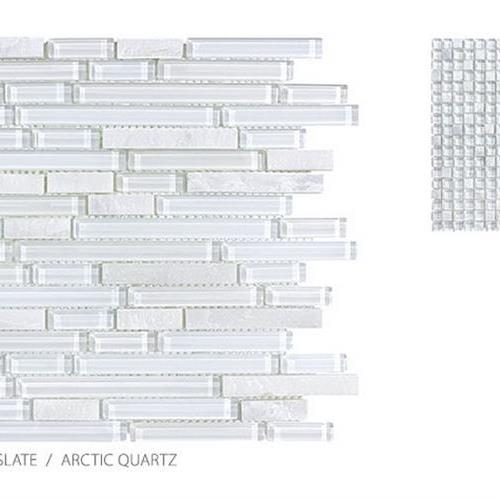 Clear Glass And Slate Arctic Quartz