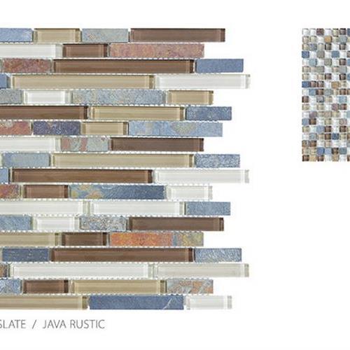 Clear Glass And Slate Java Rustic