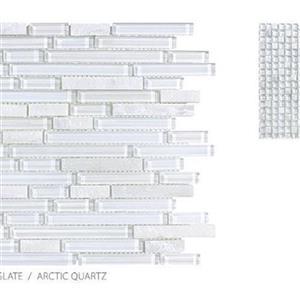 GlassTile ClearGlassandSlate TSADGCGAQSTRIP ArcticQuartz-Strip