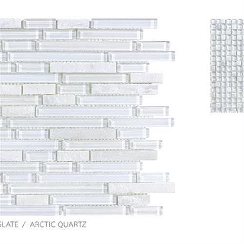 Clear Glass And Slate Arctic Quartz - Strip
