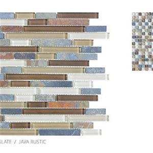 GlassTile ClearGlassandSlate TSADGCGJRBLEND JavaRustic-Mosaic