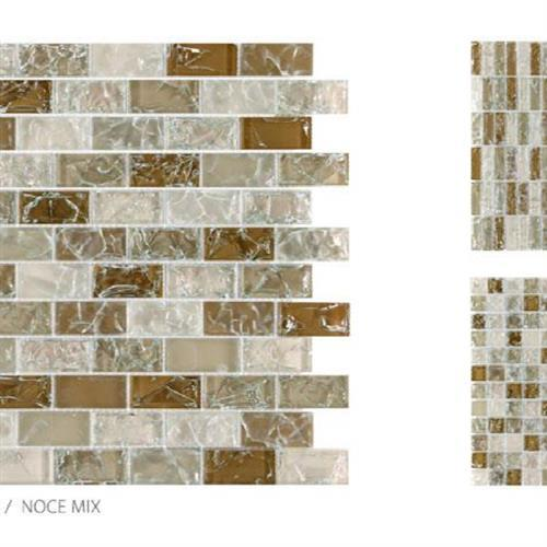 Crackle Glass Noce Mix - 1X2 Mosaic