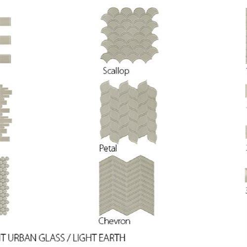 Translucent Urban Glass Light Earth - Chevron