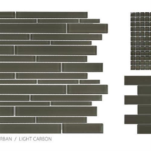 Translucent Urban Glass Light Carbon - Random Strip