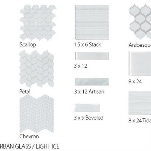 Translucent Urban Glass Light Ice - Chevron