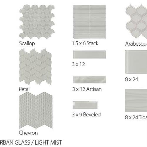 Translucent Urban Glass Light Mist - 8X24 Tidal