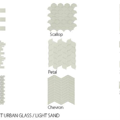 Translucent Urban Glass Light Sand - Chevron