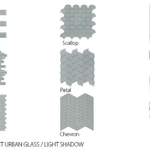Translucent Urban Glass Light Shadow - Chevron