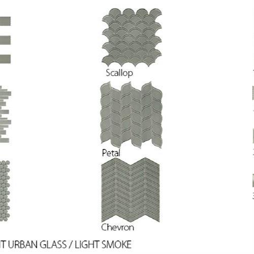 Translucent Urban Glass Light Smoke - Chevron