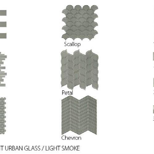 Translucent Urban Glass Light Smoke - Scallop