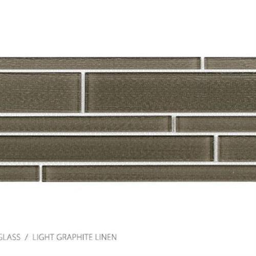 Translucent Linen Graphite Linen - Random Strip