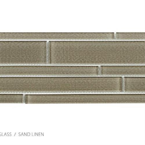 Translucent Linen Sand Linen - Random Strip