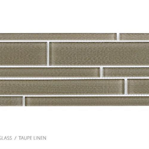 Translucent Linen Taupe Linen - Random Strip