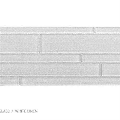 Translucent Linen White Linen - Random Strip