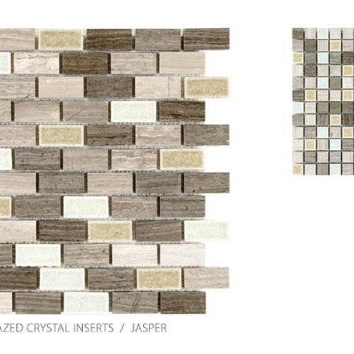 Stone With Glazed Crystal Inserts Jasper - Mosaic